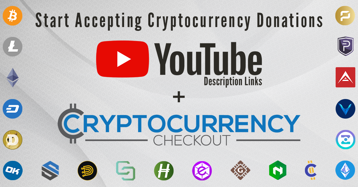 Accept Cryptocurrency on your youtube videos